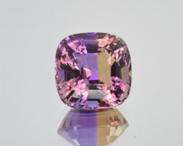 Natural Bolivian Ametrine 19.14 Cts Top Quality with Precision Cut