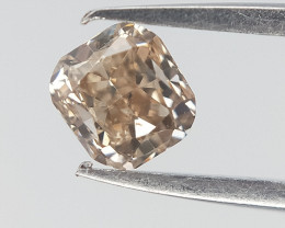 0.16 cts , Cushion Brilliant Cut , Natural Colored Diamond