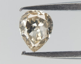 0.13 ct , Light Colored Diamond , Natural Pear Diamond