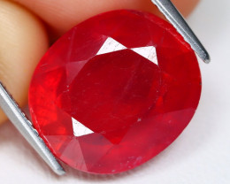 Red Ruby 11.23Ct Oval Cut Pigeon Blood Red Ruby B0205