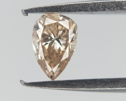 0.10 cts  , Pear Brilliant Cut , Natural Color Diamond