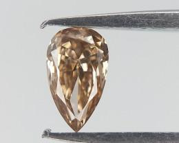 0.10 ct , Elongated Pear Brilliant Cut Diamond , Natural Color Diamond