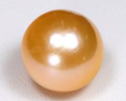 South Sea Pearl 12.7mm Natural Pinky Orange Salt Water Pearl C0204