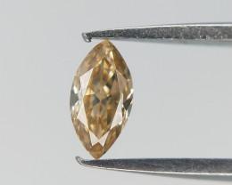 0.12 CT , Marquise Brilliant Cut Diamond , Natural Champagne Diamond