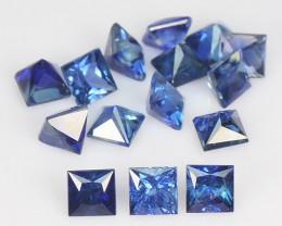 1.78 Cts 15 Pcs Amazing Rare Natural Fancy Blue Sapphire Loose Gemstone