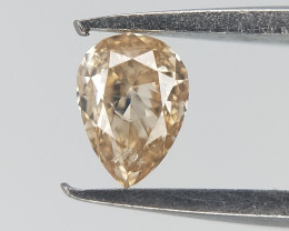 0.08 CT , Pear Brilliant cut , Light Color Diamond