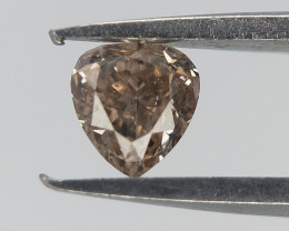 0.13 CT , Pear Brilliant Cut Diamond  , Natural Pear Diamonds