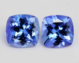 1.19 Cts 2pcs Amazing rare AA+ Violet Blue Color Natural Tanzanite Gemstone