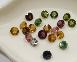 2 Ct Tourmaline Lot Faceted Round  3mm..-(SKU 232)