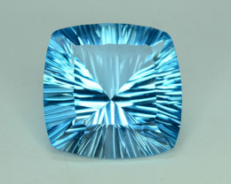 Top Quality Attractive Laser Cut 53.70 ct Blue Topaz