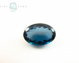 22.56 carats London Blue Topaz Oval cut