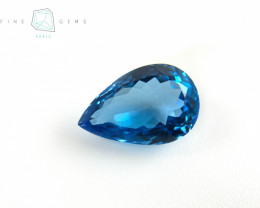 8.69 carats Swiss Blue Topaz Pear cut