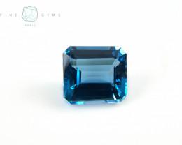12.20 carats Swiss Blue Topaz Octa cut