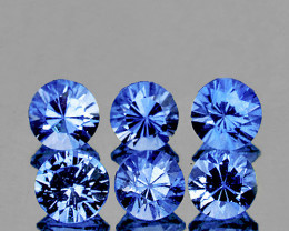 3.30 mm Round 6 pcs 0.98ct Ceylon Blue Sapphire [VVS]