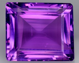 25.30 CT NATURAL AMETHYST GOOD CUT GEMSTONE AM45