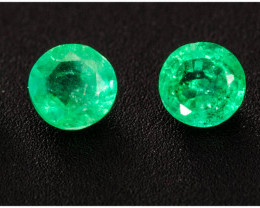 Emerald  0.21 ct Zambia GPC Lab