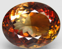 21.79 ct. 100% Natural Earth Mined Topaz Orangey Brown Brazil