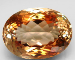 17.38  ct. 100% Natural Earth Mined Topaz Orangey Brown Brazil