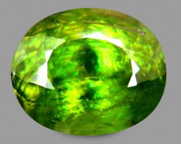Africa Sphene 3.45 Cts Green Quantum Cut BGC139