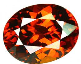 ~BRILLIANT~ 2.43 Cts Natural Imperial Orange Zircon Oval Cut Tanzania
