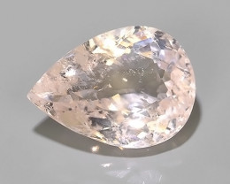10.40 CTS EXCELLENT NATURAL LUSTER-PEACH PINK MORGANITE PEAR GEM!!