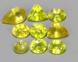 3.90 CTS EXCELLENT NATURAL-YELLOW SPHENE MIED PARCEL 9 PCS~