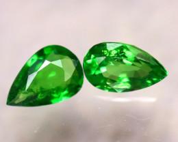 Tsavorite 0.80Ct 2Pcs Natural Vivid Green Color Tsavorite Garnet D0303/B7