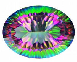 *No Reserved* Mystic Quartz 24.66 Cts Multi Color Natural Mystic Quartz