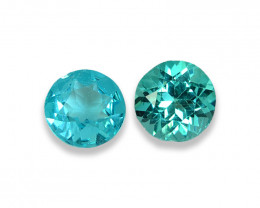 1.99 Cts Stunning Lustrous Paraiba Color Round Apatite