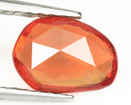 0.98 Cts Amazing Rare Natural Fancy Orange Color Sapphire Loose Gemstone