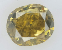 0.12 ct , Yellow Overtone Diamond , Natural Colored Diamond