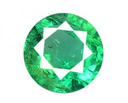 0.23 Cts Natural Vivid Green Zambian Emerald Loose Gemstone