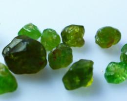 NR!!!! 21.50 CTs Natural - Unheated Green Garnet Rough Lot