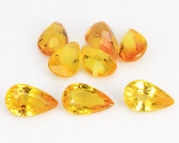 Yellow Sapphire 2.09 Cts 8 Pcs Amazing Rare Natural Fancy Loose Gemstone
