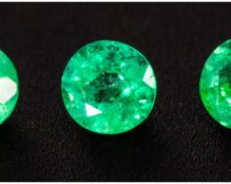Emerald  0.30 ct Zambia GPC Lab