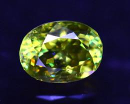 Sphene 1.57Ct Natural Rainbow Flash Green Sphene ER342/B41