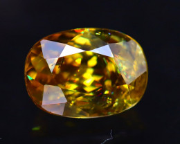 Sphene 1.73Ct Natural Rainbow Flash Green Sphene ER344/B41