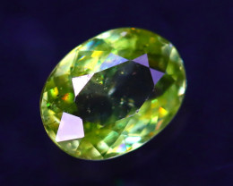 Sphene 1.32Ct Natural Rainbow Flash Green Sphene ER345/B41