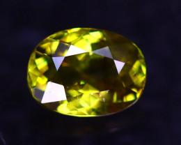 Sphene 1.51Ct Natural Rainbow Flash Green Sphene ER347/B41