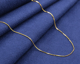 18kt SOLID Gold Snake Chain/Ultra thin 18inches