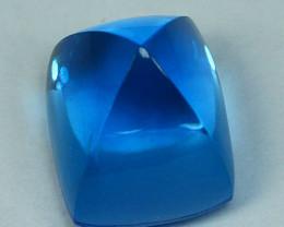 12.40Cts Natural Swiss blue topaz Sugar loaf  12mm