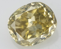 0.10 ct . Oval Brilliant Cut , Natural Yellow Diamond