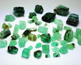 Amazing Natural good color gemmy quality Emerald lot 220Carts-A