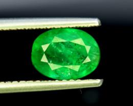 Emerald, 2.40 Carats Oval Cut Natural Zambian Emerald Gemstone