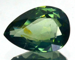 ~UNHEATED~ 0.62 Cts Natural Sapphire Beautiful Green Pear Madagascar