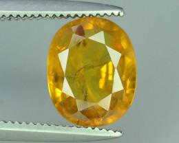 Top Clarity & Color 2.10 ct Rarest Yellow Sapphire~Sri Lanka