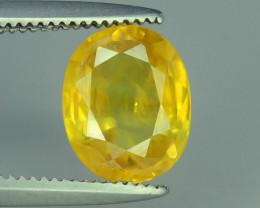 Top Clarity & Color 1.60 ct Rarest Yellow Sapphire~Sri Lanka