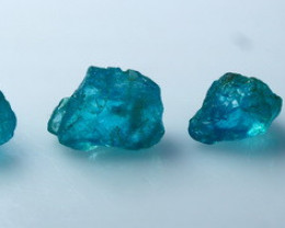 29.20 CTs Natural - Unheated Blue Apatite Rough Lot