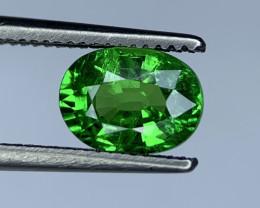 1.37 Carats vivid Green Natural Tsavorite Gemstone