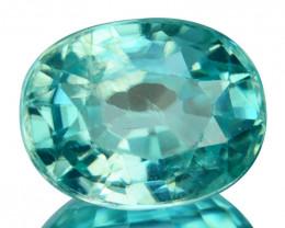 2.15 Cts Natural Greenish Blue Zircon Oval Cut Cambodia